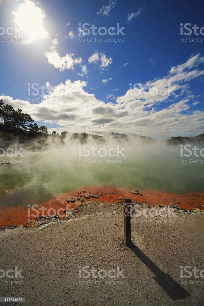 Champagne pool stock photo