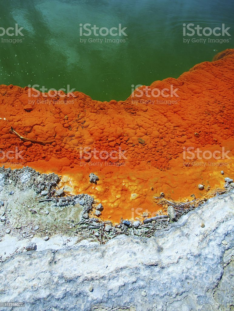 Champagne pool structure stock photo