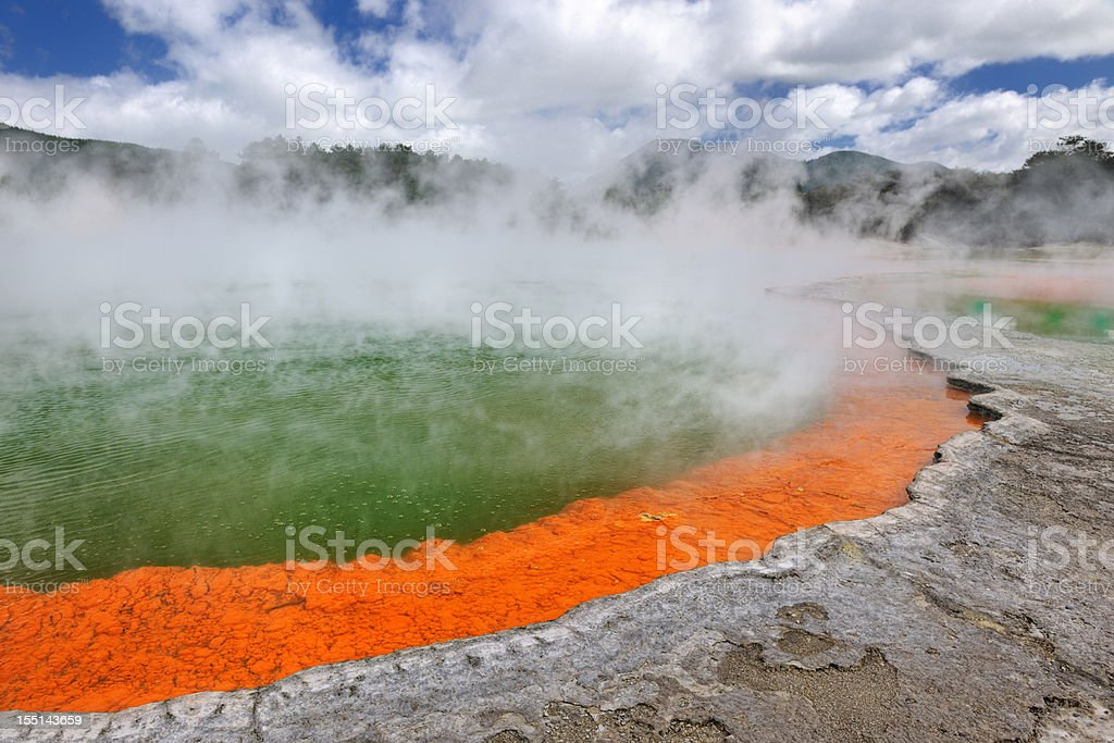 Champagne Pool, Thermal Wonderland, New Zealand (XXXL) royalty-free stock photo