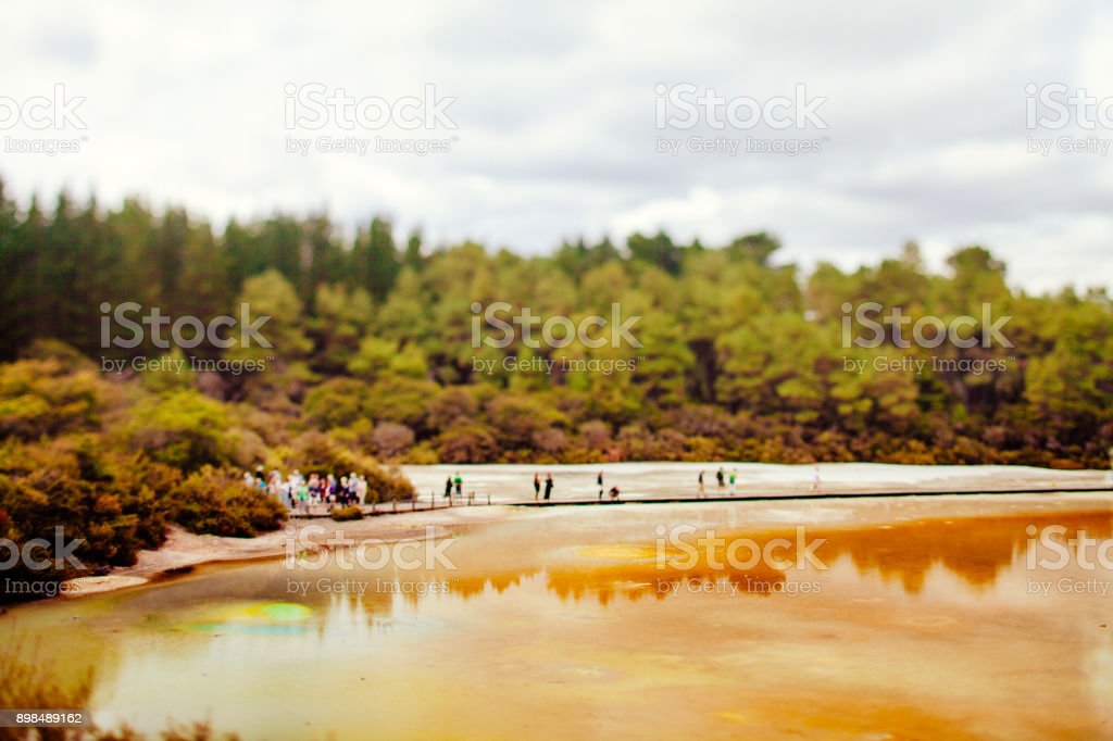 champagne pool - Wai-O-Tapu park stock photo