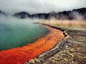 Full frame shot of champagne pool Waiotapu geothermal
