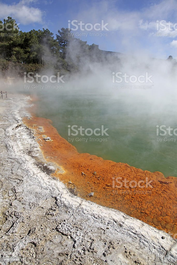 Champagne pool - Wai-O-Tapu Thermal Wonderland stock photo