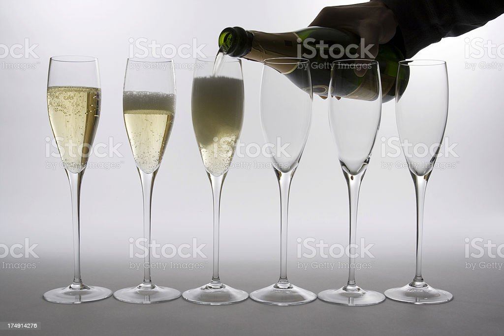 Champagne Pouring royalty-free stock photo