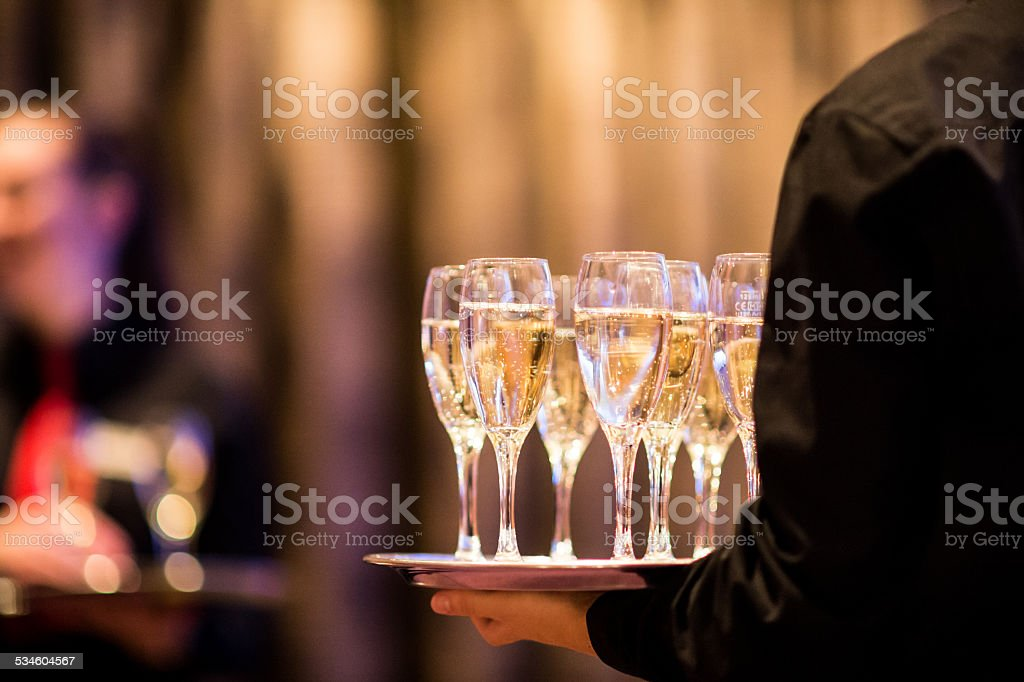 Champagne Reception stock photo