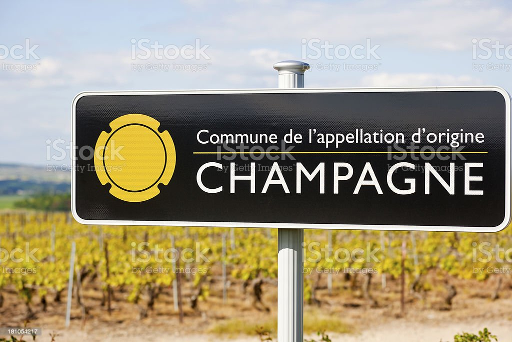 Champagne Region royalty-free stock photo