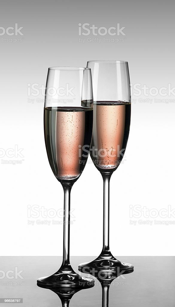 Champagne rose stock photo