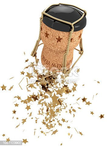 istock champagne stopper and golden stars 1051123902