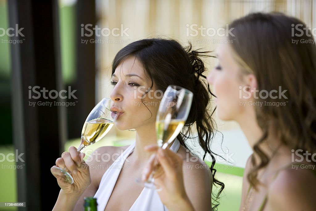 Champagne tasting royalty-free stock photo