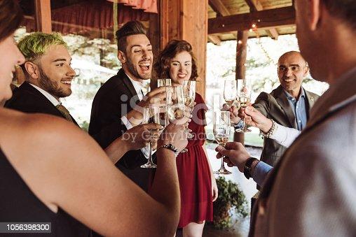 champagne toasting celebration