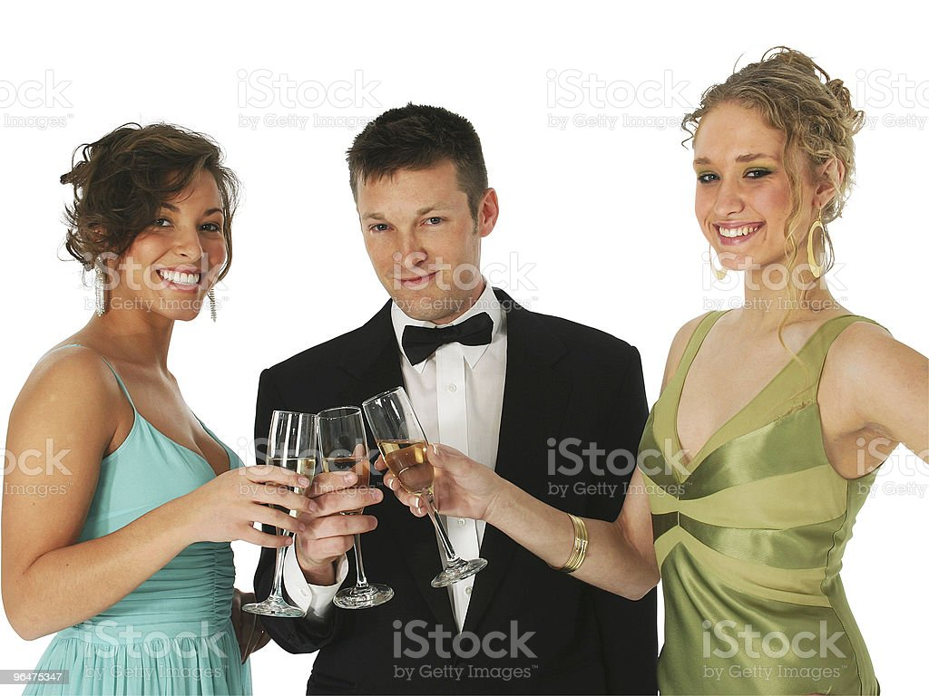 Champagne Trio royalty-free stock photo