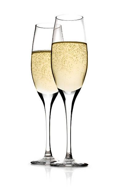 champagner mit clipping path - sektglas stock-fotos und bilder
