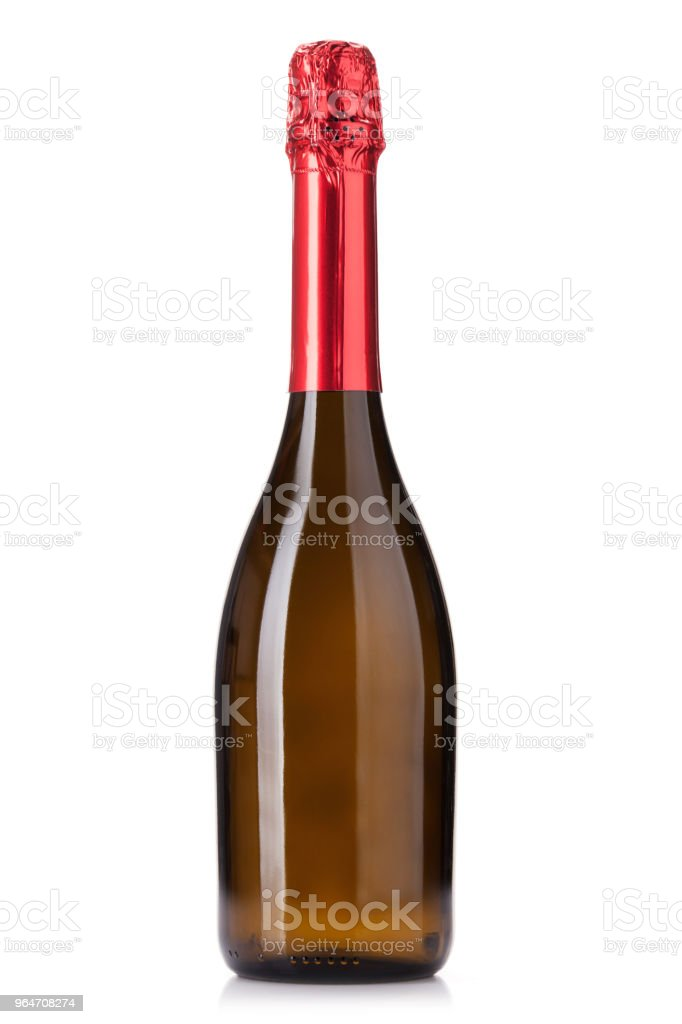 Champagne wine bottle royalty-free stock photo