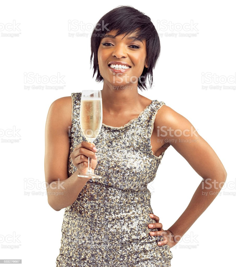 Champagne wishes stock photo