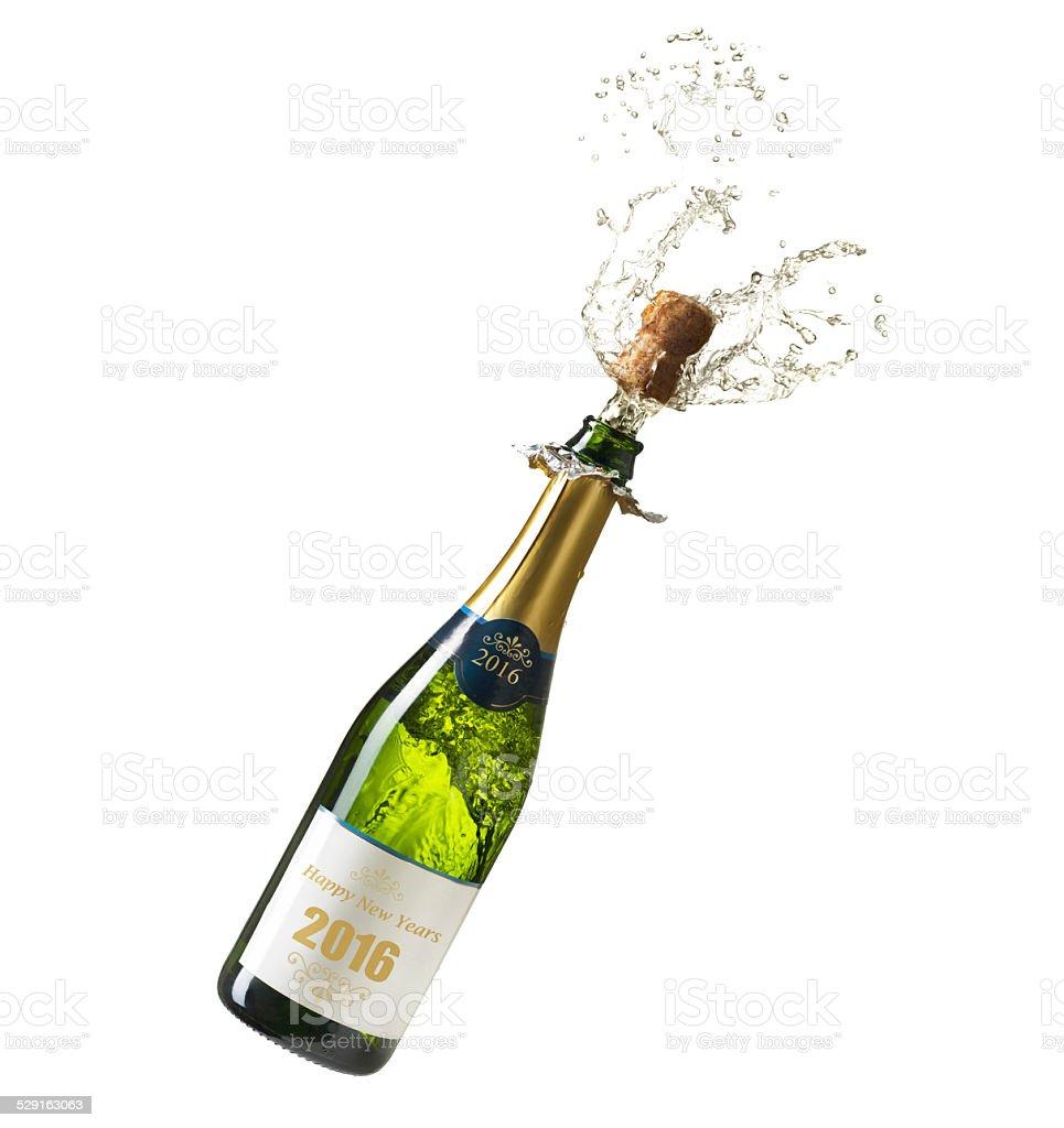 Champagne Year 2016 stock photo