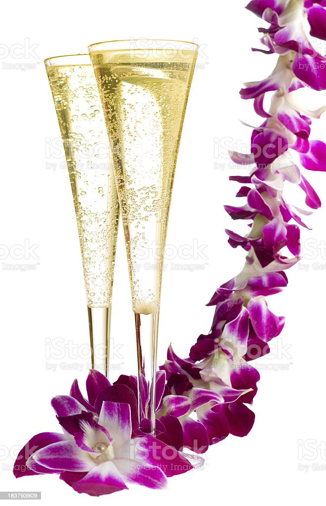Champain and lei royalty-free stock photo
