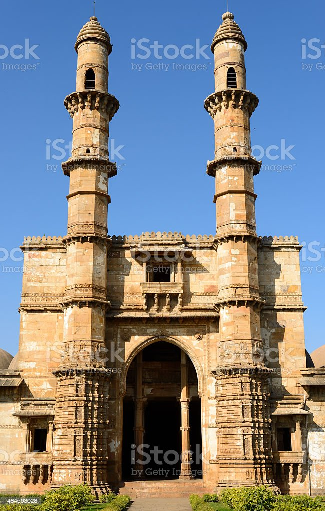 Champaner - Pavagadh Archaeological Park near Vadodara, India stock photo