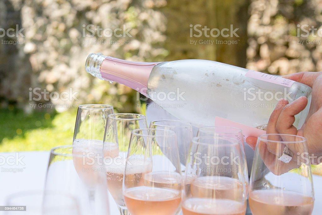 Champange stock photo