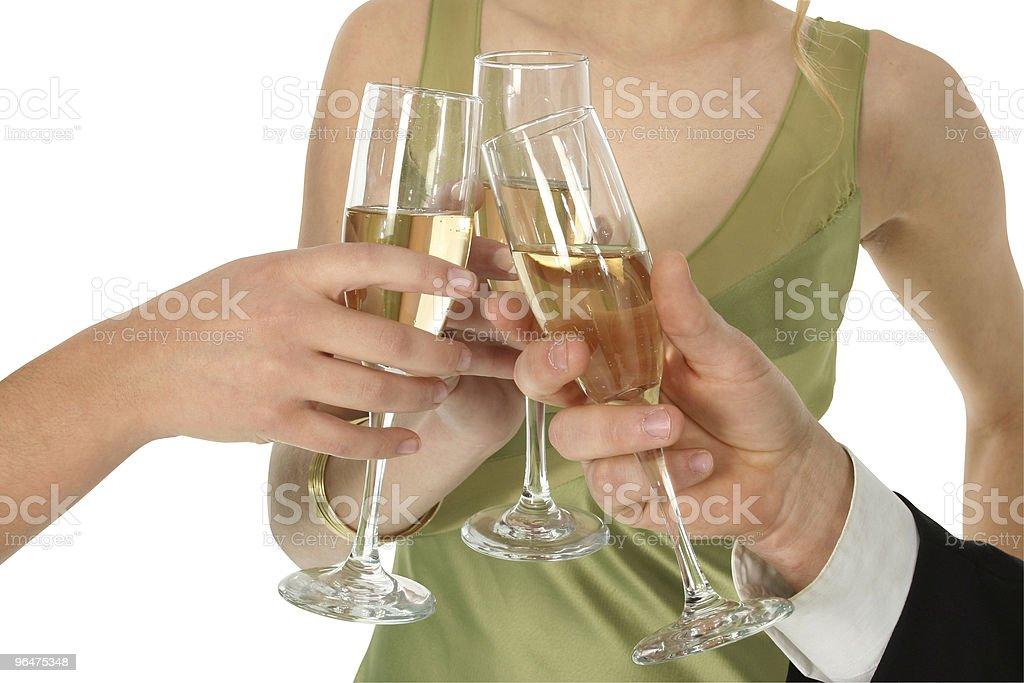 Champange Toast royalty-free stock photo