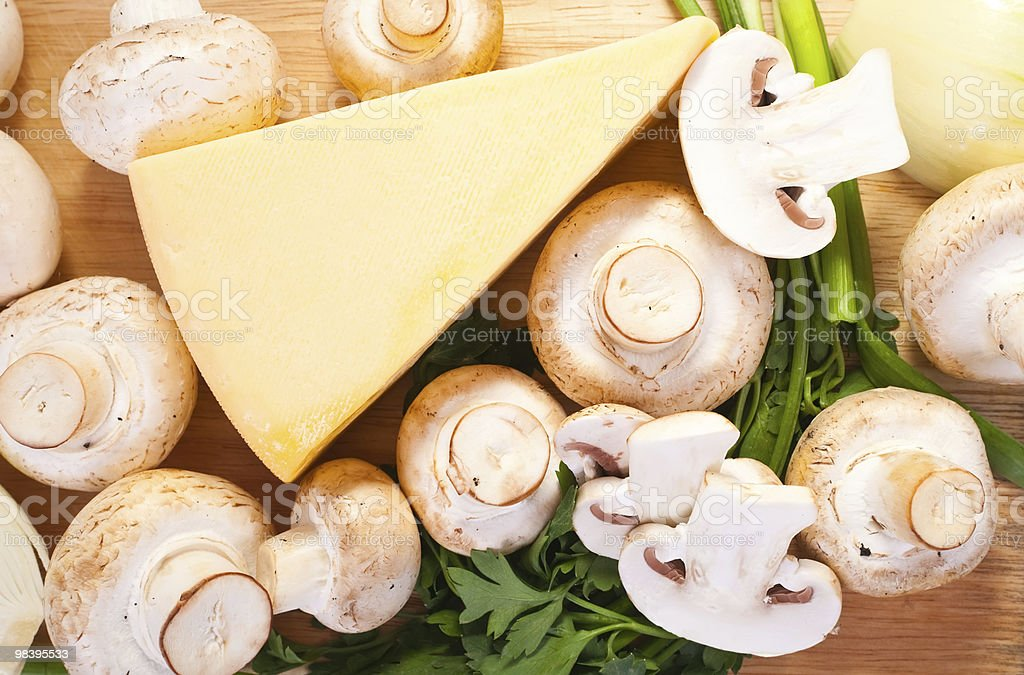 champignon mushroom with cheese royalty-free stock photo