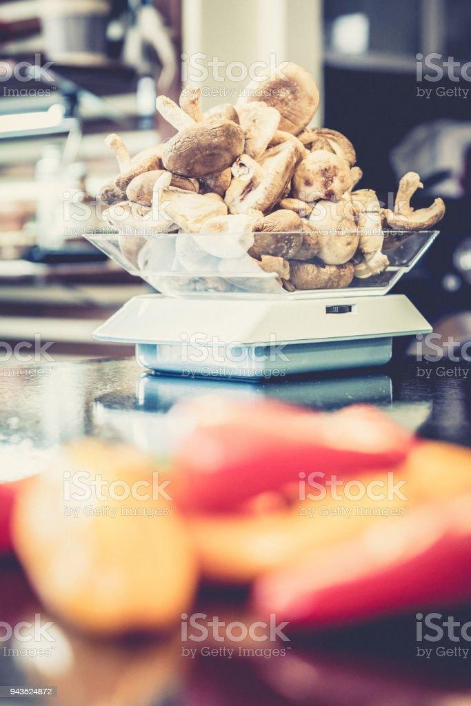 Champignons, povrons et alimentation - Photo