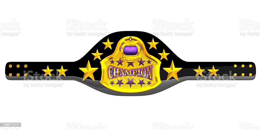 Champion Belt stock photo