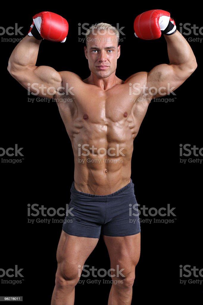 MMA champion royalty-free stock photo