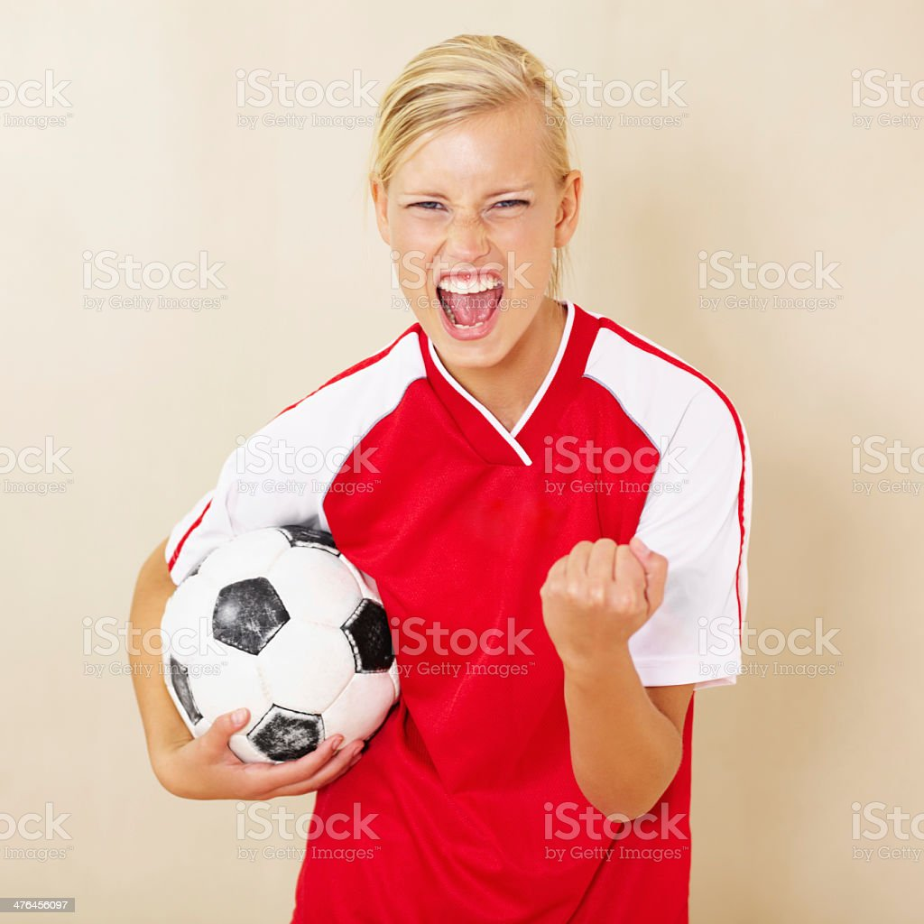 Champions of the league! royalty-free stock photo