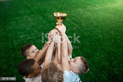 istock Champions with award 927814932