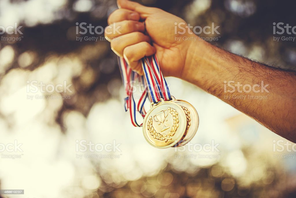 championship medals stock photo