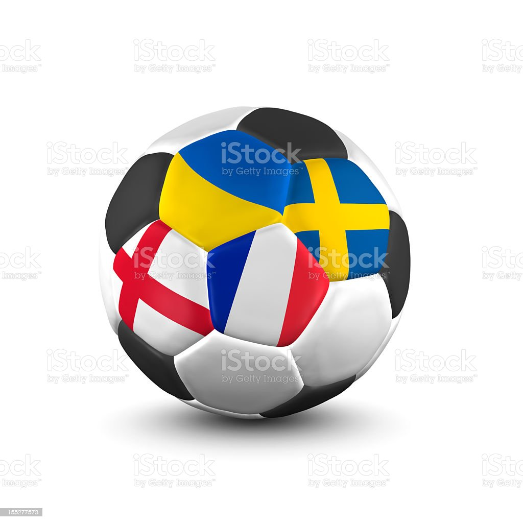 championship soccer ball group d royalty-free stock photo