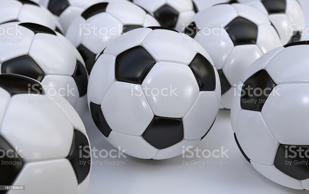 Championship soccer balls royalty-free stock photo