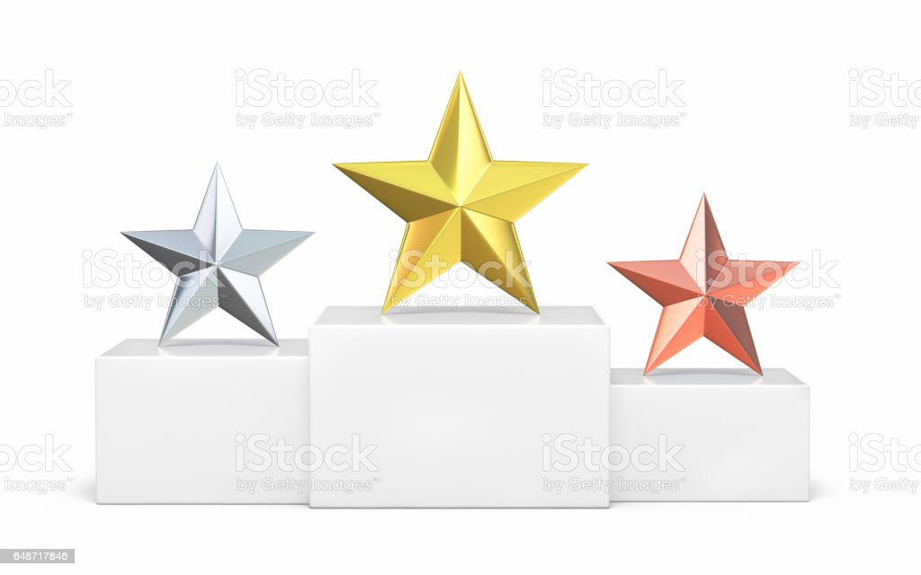 Championship Stars awards stock photo