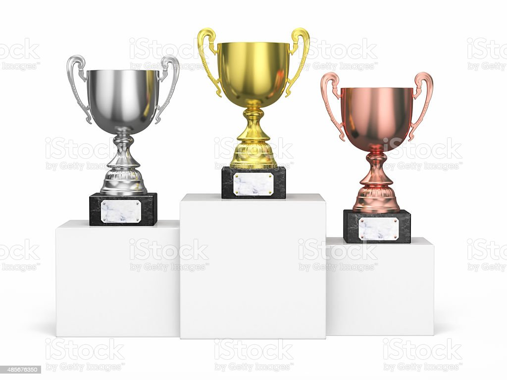 Championship Trophies stock photo