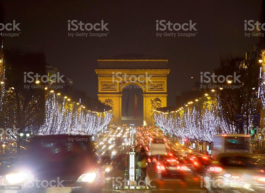 Champs Élysées royalty-free stock photo