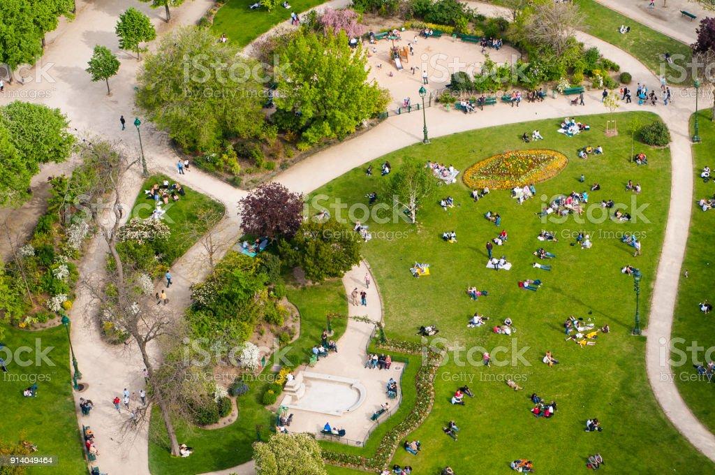Champs de Mars garden stock photo