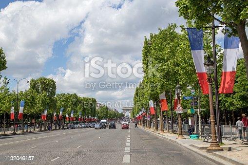 istock Champs Elysees Avenue in Paris 1132046157