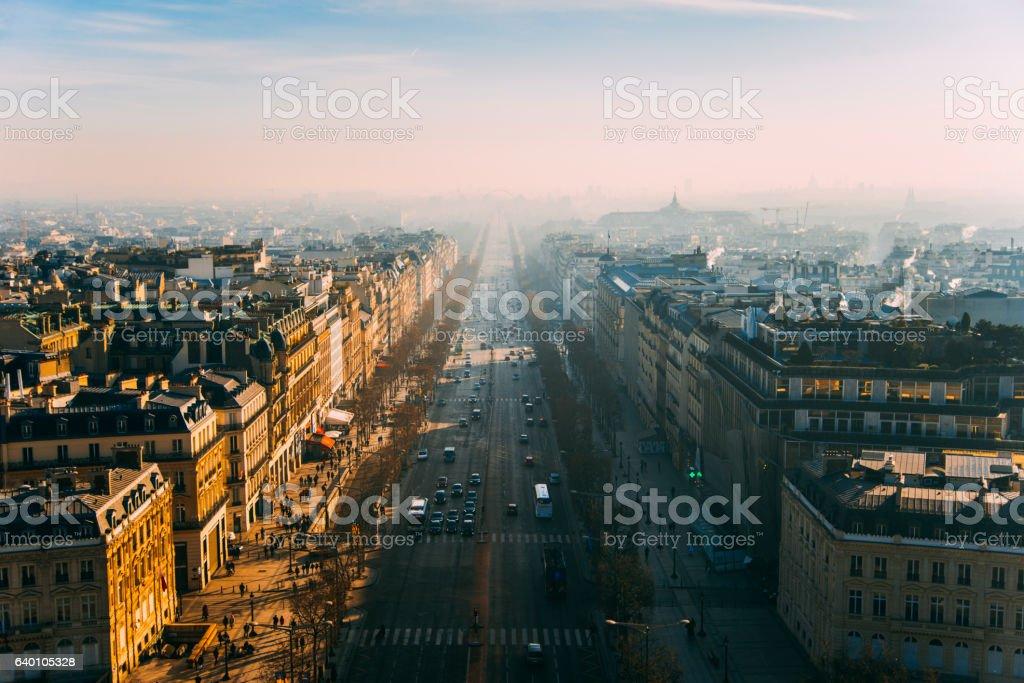 Champs-Élysées stock photo