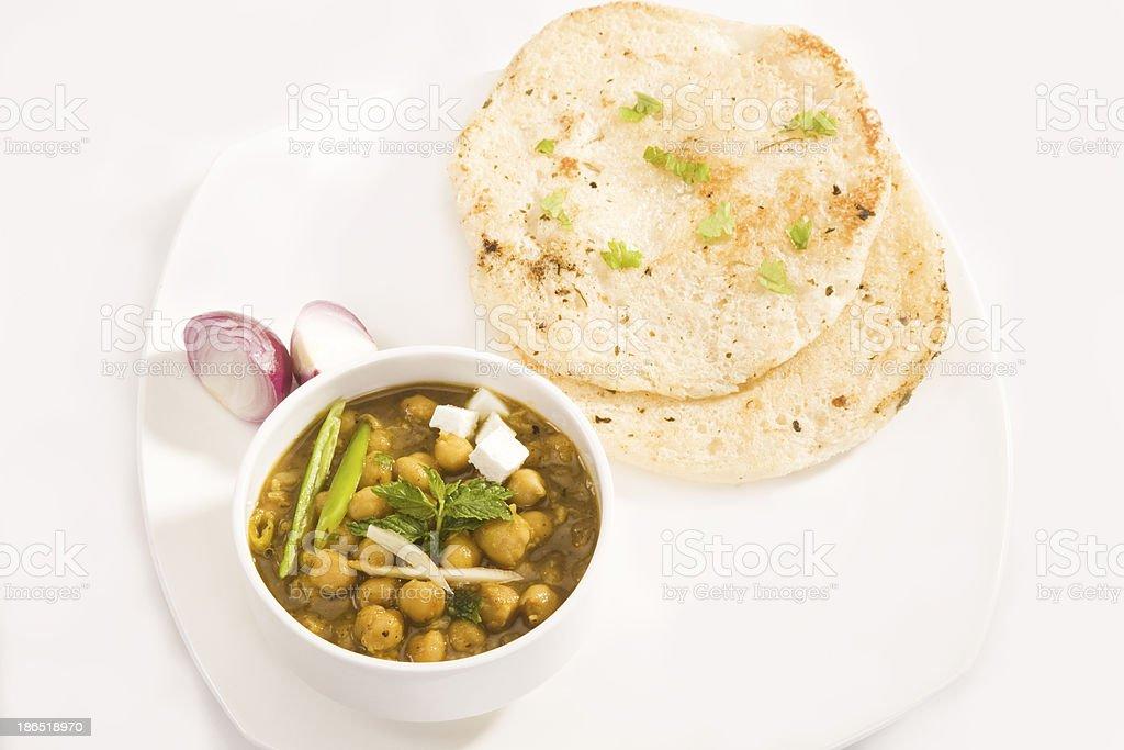 Chana Masala and Kulcha royalty-free stock photo