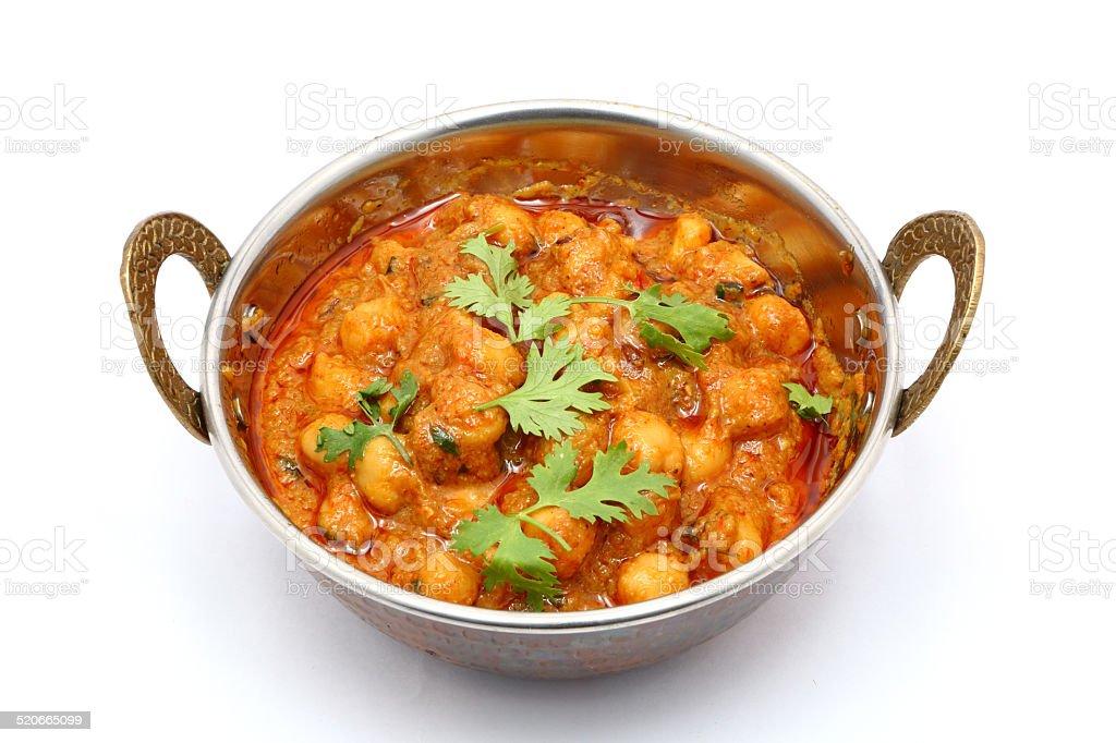 Chana Masala gram dish stock photo