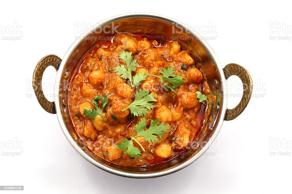 Chana Masala gram dish stock photo