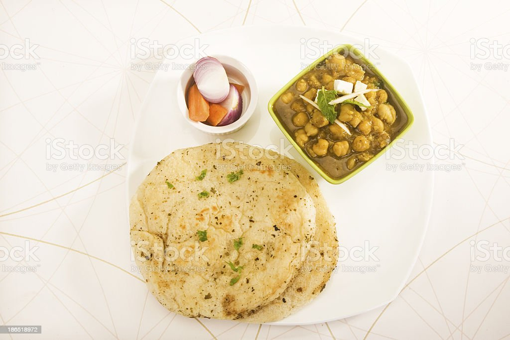 Chana with Kulcha royalty-free stock photo
