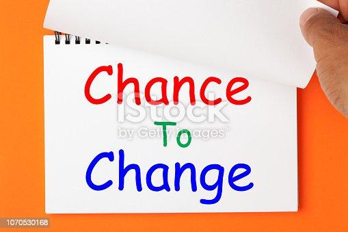 istock Chance To Change 1070530168