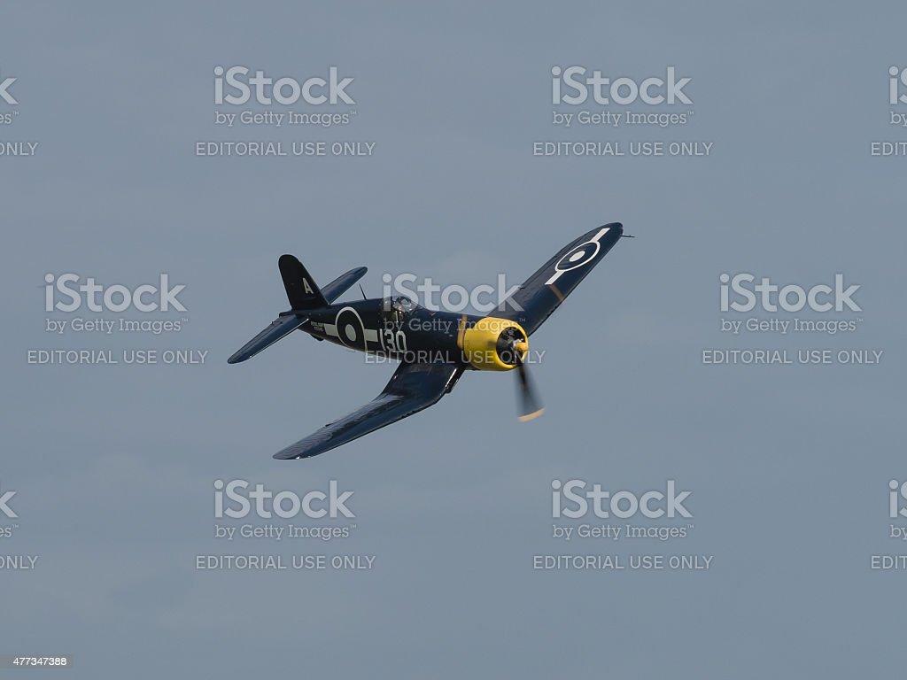 US Chance Vought Corsair aircraft stock photo