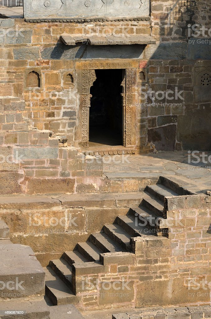 Chand Baori Stepwell in the village of Abhaneri stock photo