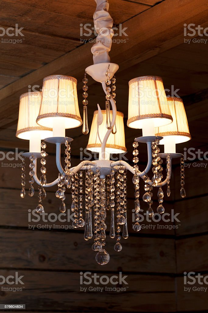 chandelier close up stock photo
