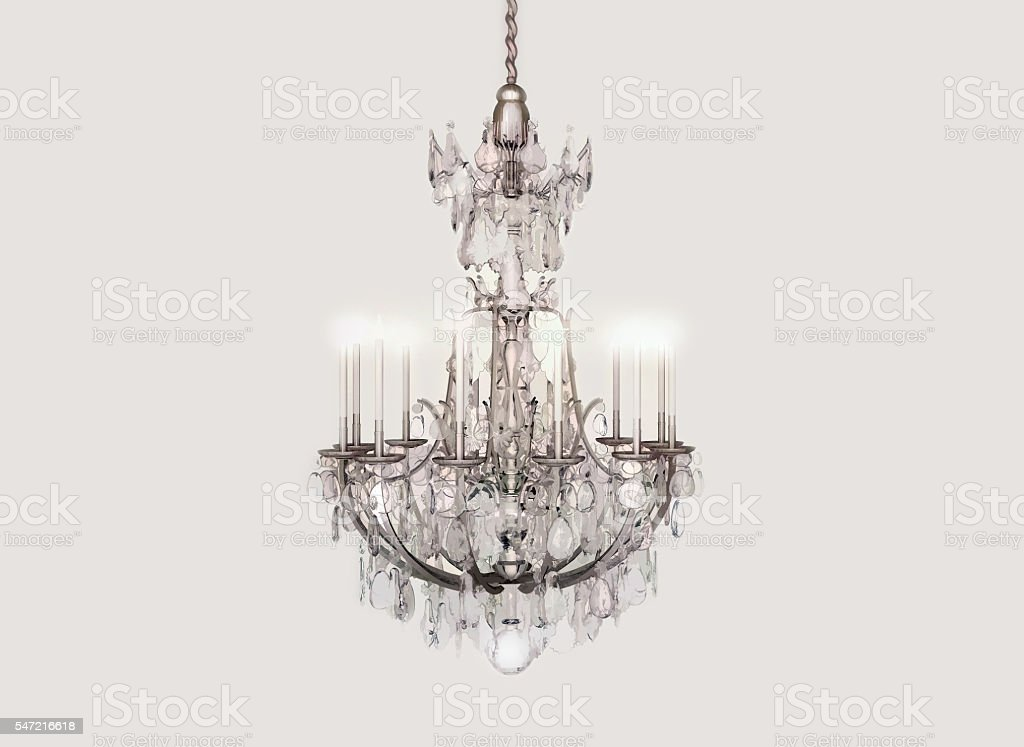 Chandelier, crystal, candles, celebration. stock photo