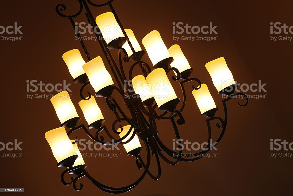Chandelier Light Fixture Decor royalty-free stock photo