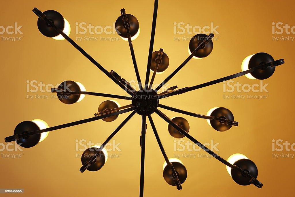 Chandelier Light Fixture Home Decor stock photo