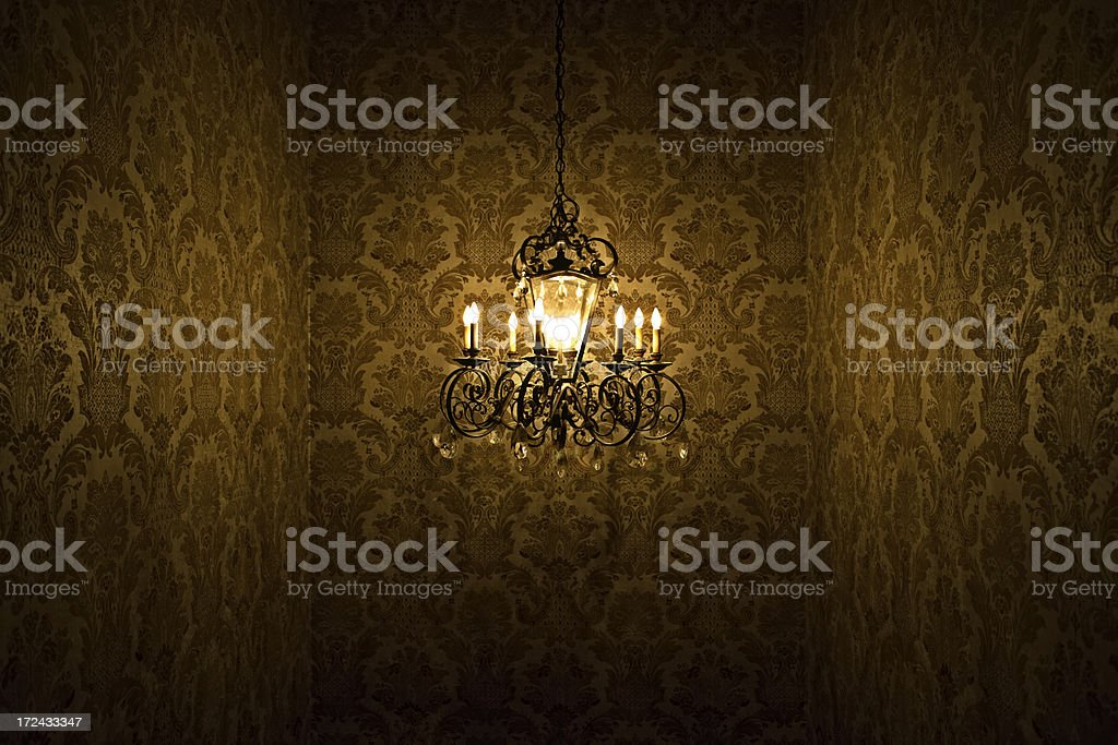 Chandelier mystery stock photo