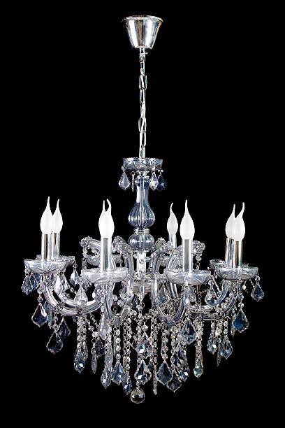 Chandelier A beautiful chandelier isolated on black. chandelier stock pictures, royalty-free photos & images